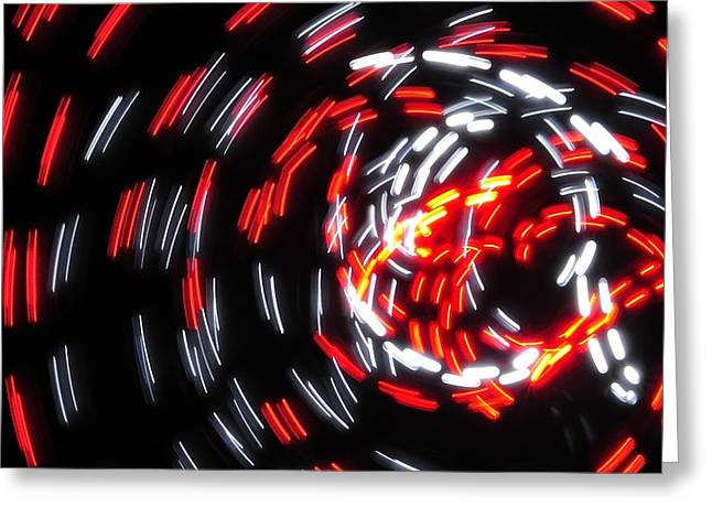 Light Patterns 008 Greeting Card by Todd Soderstrom
