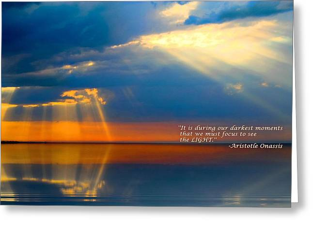 Light Quote Aristotle Onassis Greeting Card