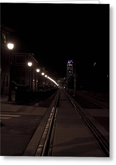 Light Rail Greeting Card by Doug Hubbard