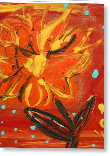 Greeting Card featuring the painting Light Rain by Mary Carol Williams