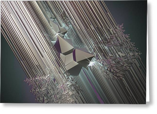 Greeting Card featuring the digital art Light Rays by Melissa Messick