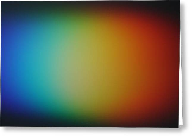 Light Refracted - Rainbow Through Prism Greeting Card by Denise Beverly