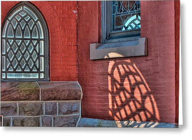 Light Shadows And Reflections Greeting Card