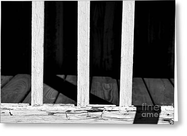 Light Shadows Weathered Greeting Card by JW Hanley