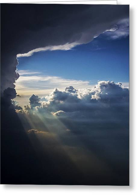 Light Shafts From Thunderstorm II Greeting Card