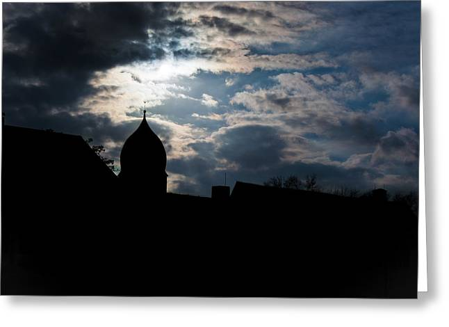 Light Shines In Darkness 2 Greeting Card by Marie Sullivan