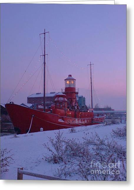 Greeting Card featuring the photograph Light Ship by John Williams