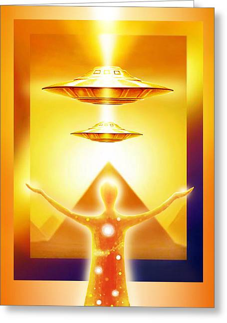 Light Ships Over Egypt Greeting Card by Hartmut Jager