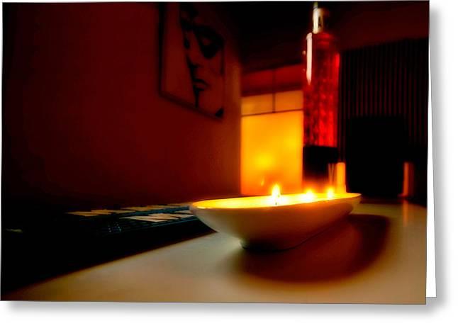 Light The Bottle Greeting Card by Melinda Ledsome
