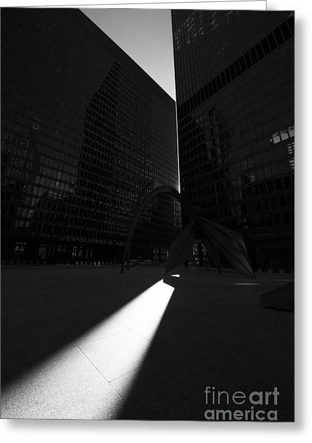 Light Through Federal Plaza Greeting Card