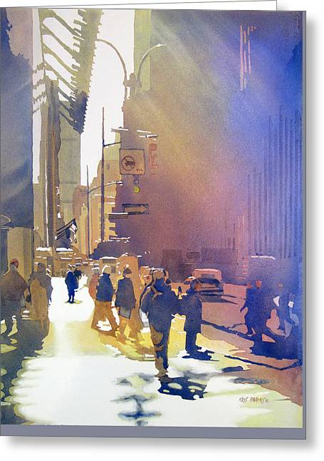 Light Traffic Greeting Card by Kris Parins