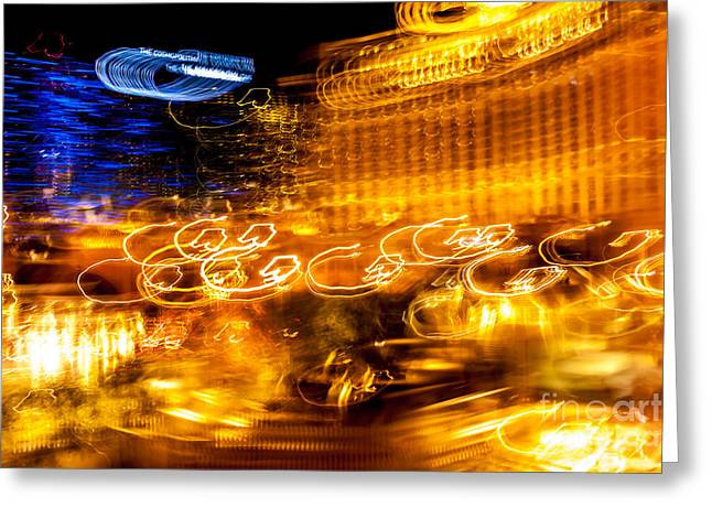 Light Trails Abstract 2 Greeting Card