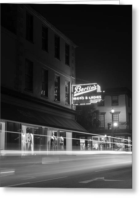 Light Trails Greeting Card by Andrew Crispi
