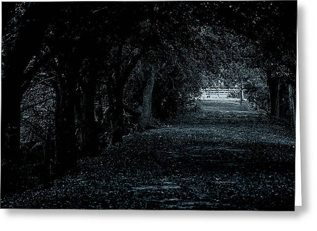 Greeting Card featuring the photograph Light Tunnel by Lorenzo Cassina