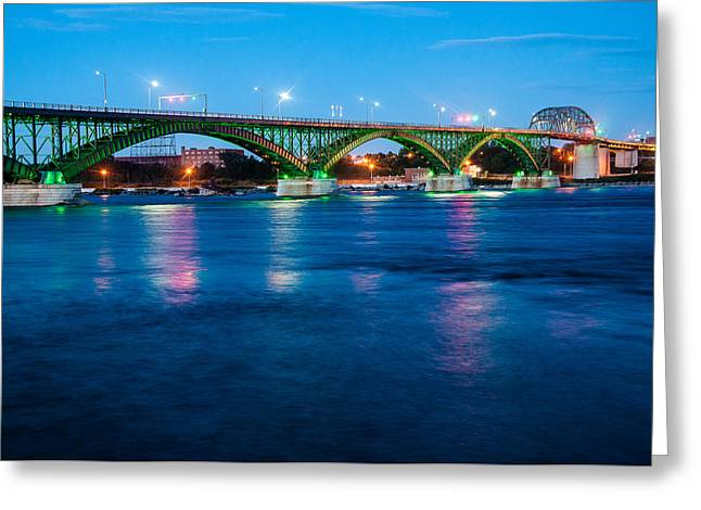 Light Up The Peace Bridge Greeting Card