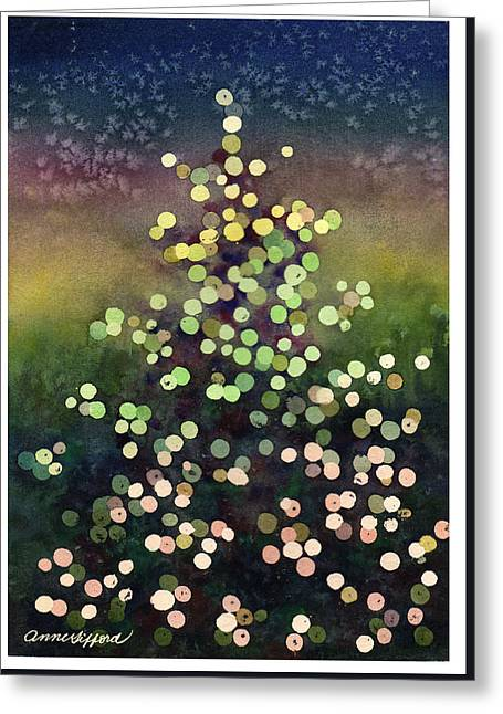 Light Up The Season Greeting Card by Anne Gifford