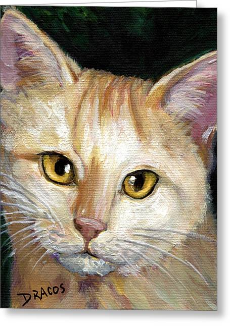 Light Yellow Tabby Cat Greeting Card