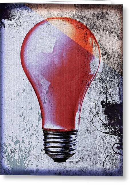 Lightbulb Greeting Card by Bob Orsillo