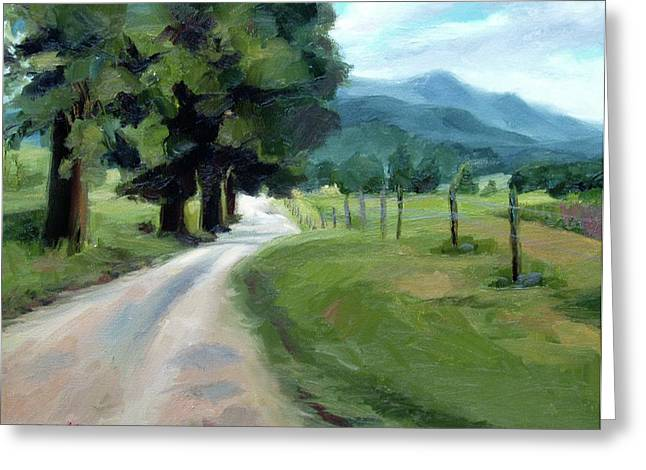 Lighted Path Of Cades Cove Greeting Card