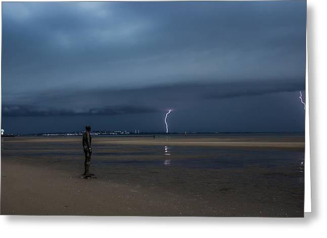 Lightning Strikes Twice Greeting Card by Paul Madden