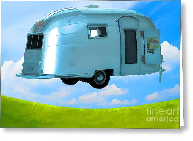 Lighter Than Air Greeting Card by Edward Fielding