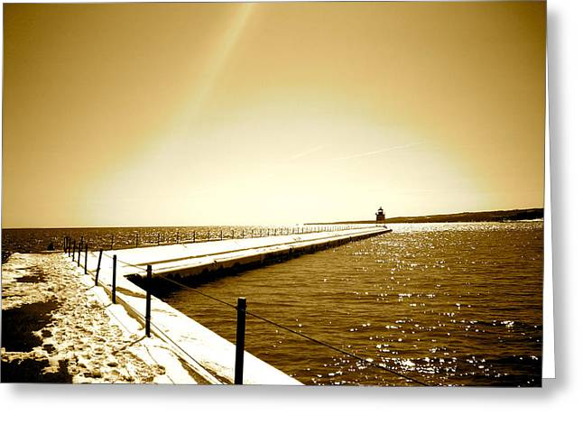 Lighthouse 1 Greeting Card by Eric Larson