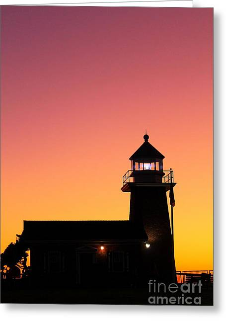 Greeting Card featuring the photograph Lighthouse 1 by Theresa Ramos-DuVon