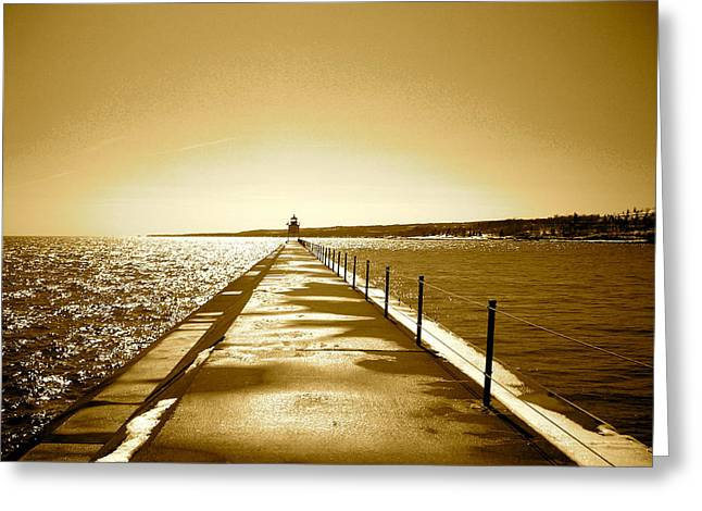 Lighthouse 2 Greeting Card by Eric Larson