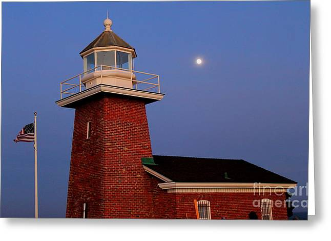 Greeting Card featuring the photograph Lighthouse 7 by Theresa Ramos-DuVon