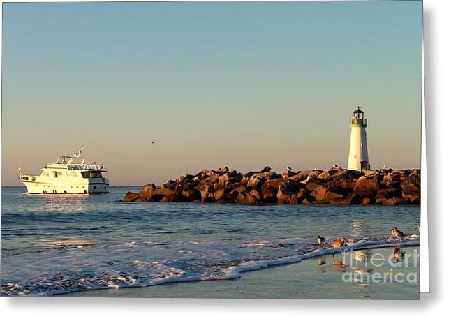 Greeting Card featuring the photograph Lighthouse 8 by Theresa Ramos-DuVon
