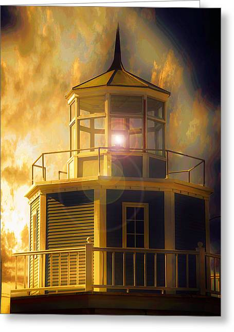 Greeting Card featuring the photograph Lighthouse  by Aaron Berg
