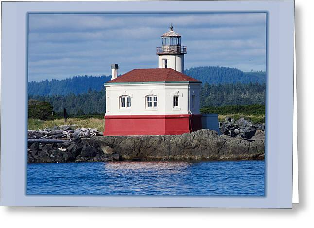 Lighthouse Greeting Card by Adria Trail