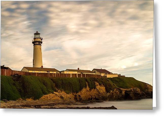 Lighthouse And Clouds Greeting Card