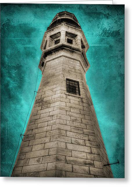 Lighthouse Art Greeting Card by Cindy Haggerty