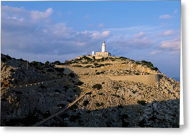 Lighthouse At A Seaside, Majorca, Spain Greeting Card by Panoramic Images