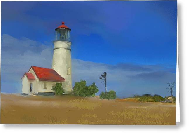 Lighthouse At Cape Blanco Greeting Card