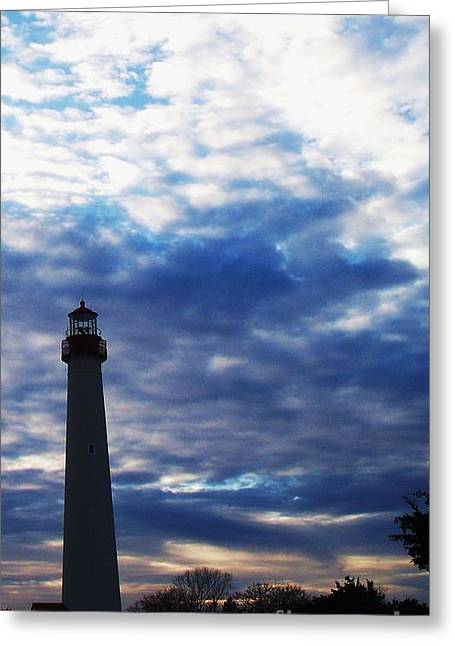 Lighthouse At Cape May Nj Greeting Card by Eric  Schiabor