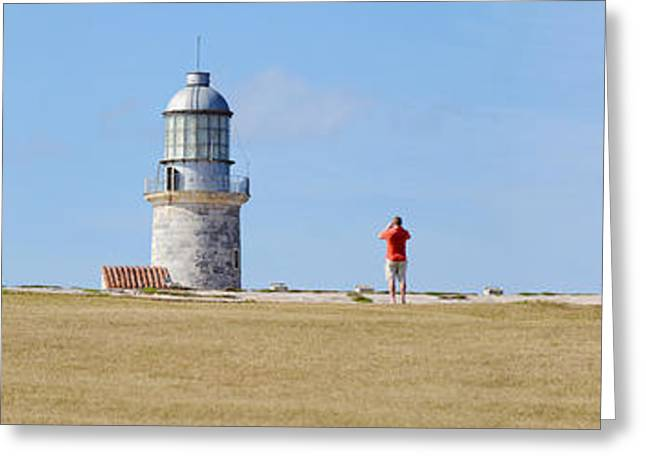 Lighthouse At Coast, Morro Castle Greeting Card