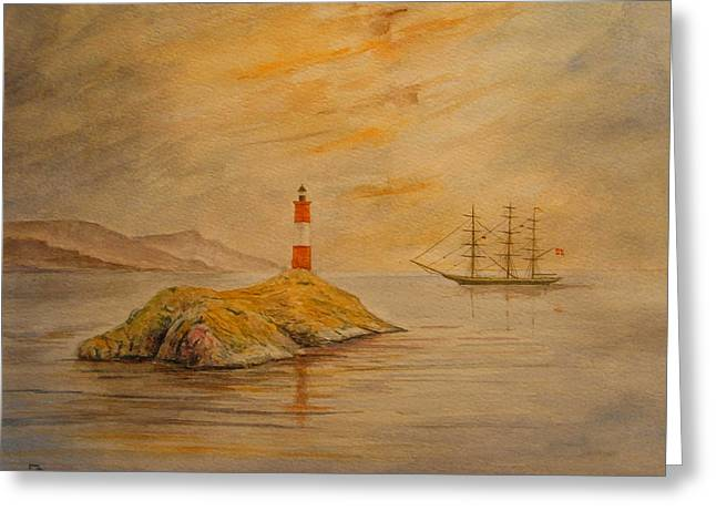 Lighthouse At Cornwall Greeting Card