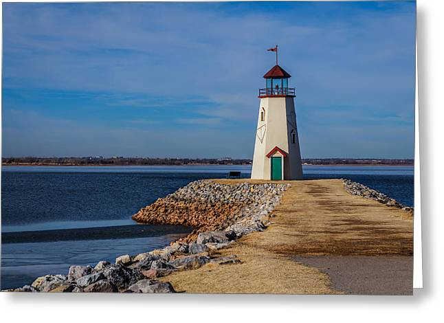 Lighthouse At East Wharf Greeting Card