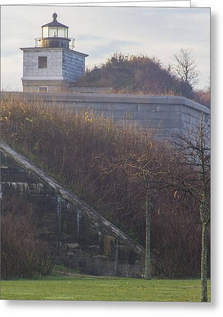 Lighthouse At Fort Rodman Greeting Card