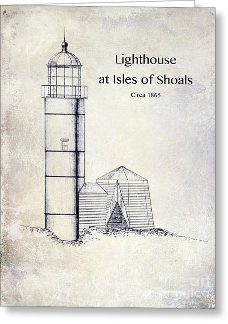 Lighthouse At Isles Of Shoals Greeting Card by Jon Neidert