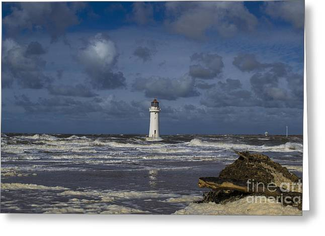 lighthouse at New Brighton Greeting Card