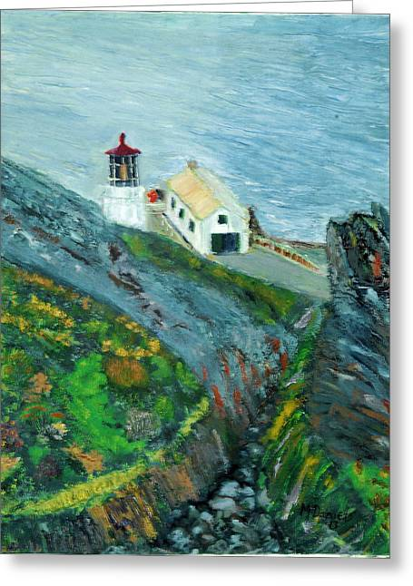 Lighthouse At Point Reyes California Greeting Card by Michael Daniels