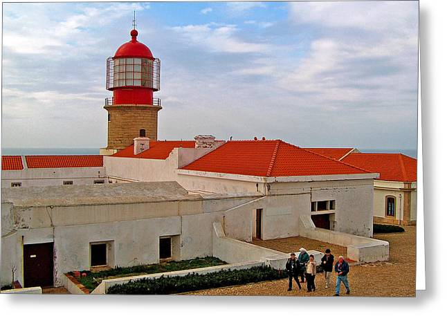 Lighthouse At Southwesternmost Point On European Continent-portugal Greeting Card by Ruth Hager