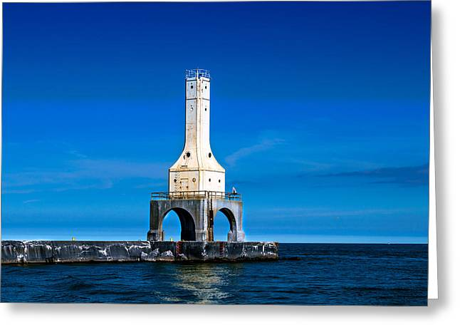 Lighthouse Blues Greeting Card