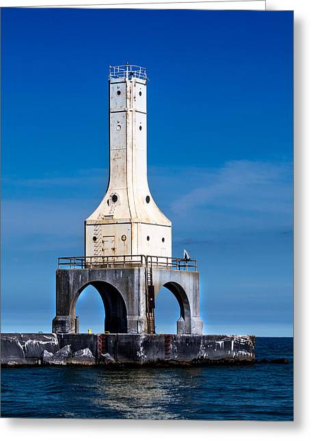 Lighthouse Blues Vertical Greeting Card