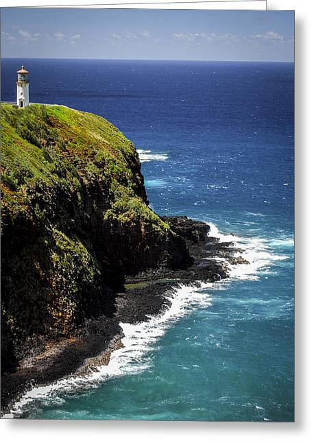 Greeting Card featuring the photograph Lighthouse By The Pacific by Debbie Karnes