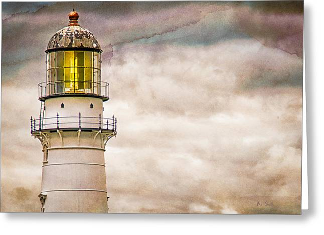 Lighthouse Cape Elizabeth Maine Greeting Card by Bob Orsillo