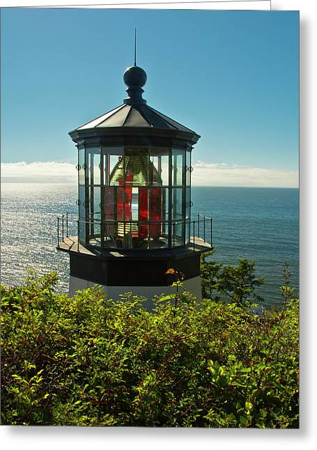 Lighthouse, Cape Meares State Park Greeting Card